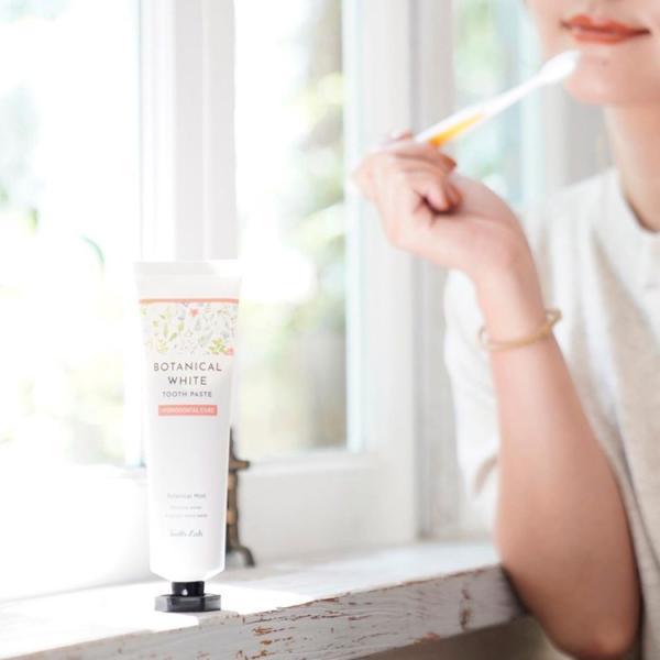 ティースラボ ボタニカルホワイト 歯磨き粉 ホワイトニング 歯周病 ボタニカル オーガニック 口臭ケア ドライマウス 泡 ミント 歯磨き|joiedebeaute|13