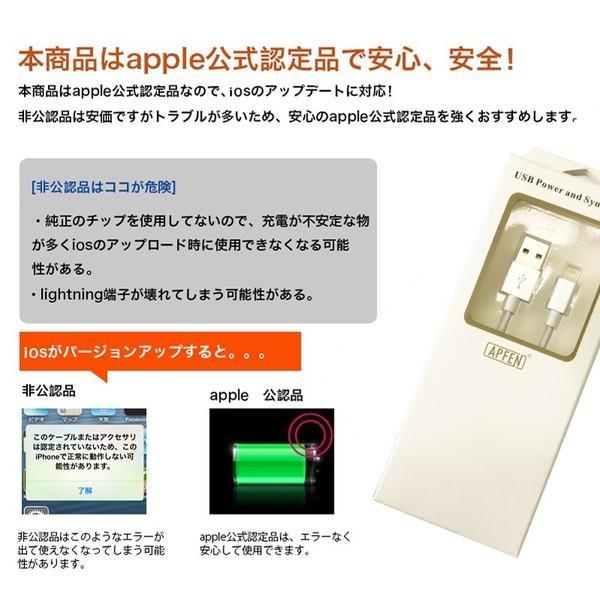 Lightning USBケーブル MFi取得品 ライトニングケーブル Apple認証 1m ナイロン製 アルミ端子 iPod iPhoneXS Max XR iPad 充電器 データ転送 USB Cable 純正|joliefille-ken|04
