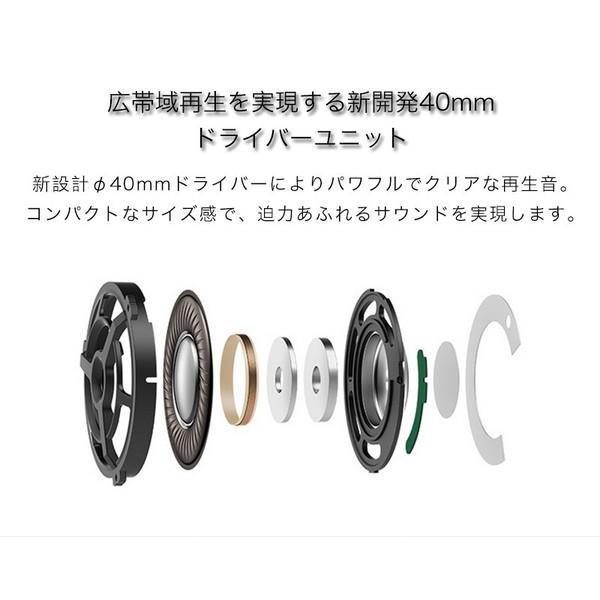 ヘッドホン 密閉型 高音質 高遮音性 ヘッドフォン ステレオ マイク・リモコン付 スマホ用 Xperia Galaxy iPhone iPad iPod等多機種対応 折りたたみ式|joliefille-ken|05