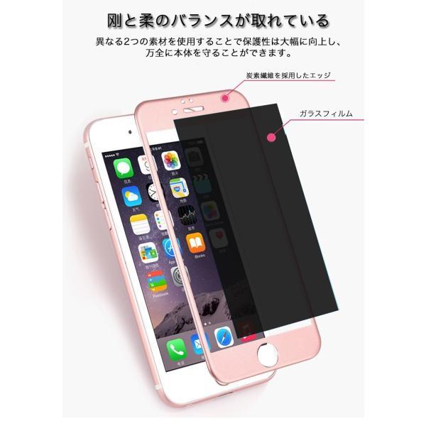 保護フィルム iPhoneXS Max 強化ガラスフィルム iPhoneXS XR 覗き見防止 iPhone8 Plus 8 iPhone7Plus 7 6sPlus 6Plus 6s 6 X 強化ガラス 日本旭硝子製 9H 耐衝撃|joliefille-ken|03
