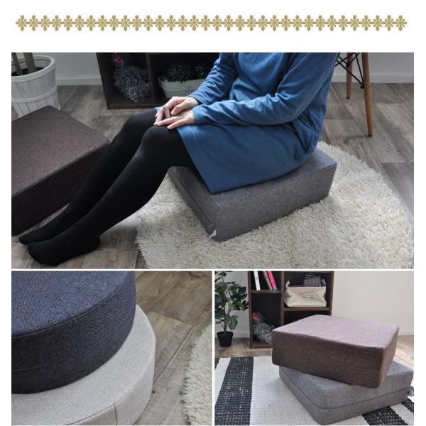 クッション 2点で送料無料 15cm厚 ふっくら ウレタン シートクッション 座布団 椅子 スツール ボリューム 低反発 高反発 neore|jonan-interior|12