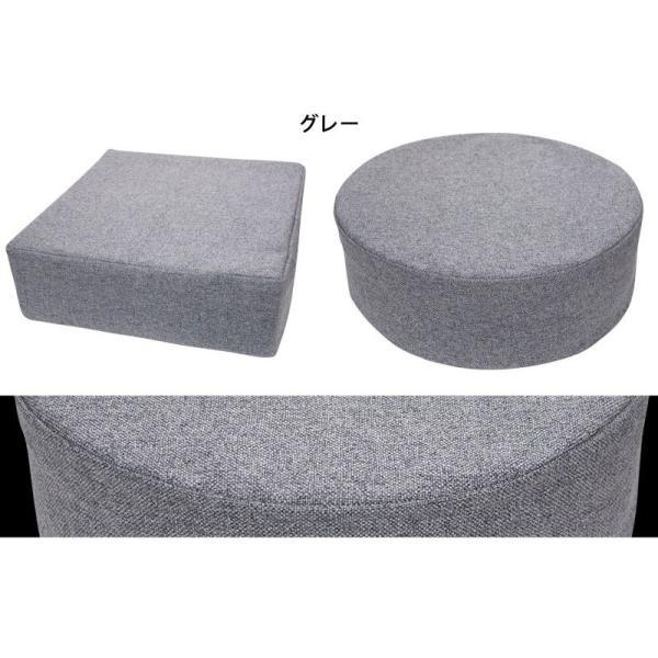 クッション 2点で送料無料 15cm厚 ふっくら ウレタン シートクッション 座布団 椅子 スツール ボリューム 低反発 高反発 neore|jonan-interior|07