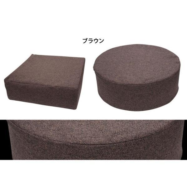 クッション 2点で送料無料 15cm厚 ふっくら ウレタン シートクッション 座布団 椅子 スツール ボリューム 低反発 高反発 neore|jonan-interior|09