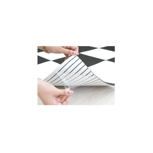 タイルカーペット 洗える 日本製 ずれない 滑り止め加工 ペット 吸着カーペット 1枚 ばら売り|jonan-interior|03