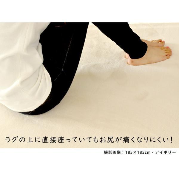 ラグ ラグマット 床暖房・ホットカーペット対応 厚み 洗える ラグ セレーナ serena 滑り止め 185×185cm|jonan-interior|16