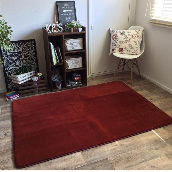 ラグ ラグマット 床暖房・ホットカーペット対応 厚み 洗える ラグ セレーナ serena 滑り止め 185×185cm|jonan-interior|05