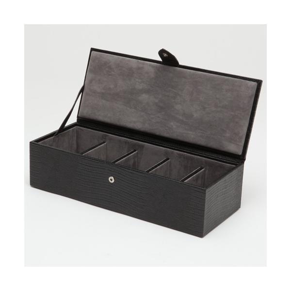 ウルフ 時計収納ケース(5本収納) ブラック テジュ リザードWOLF 305558-BLAKE 返品種別B