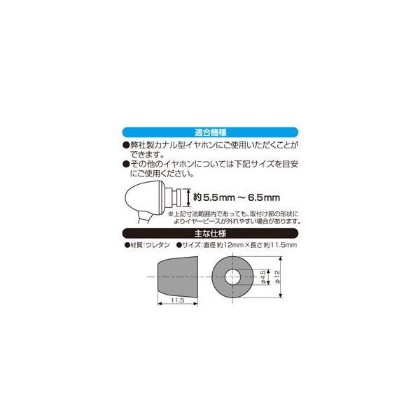 多摩電子 低反発ウレタンイヤーピース Lサイズ 4個入(ブラック) S0001L 返品種別A