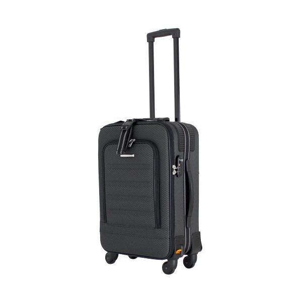(ブラック) YU1801TSブラツク 38L ESCAPES ソフトフレーム シフレ スーツケース