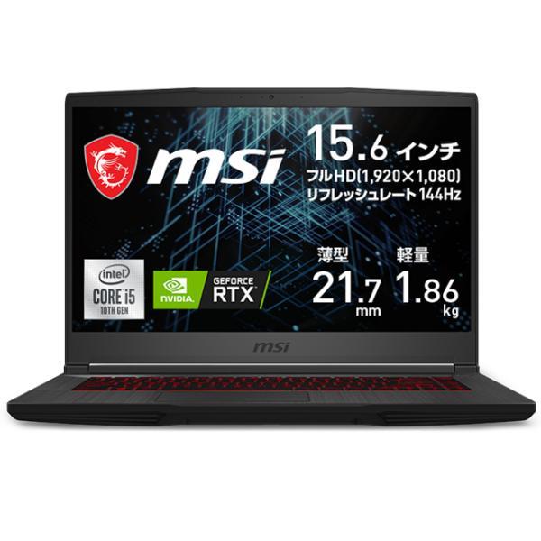 MSIGF65Thin10U(Corei5/8GB/512GB/RTX3060)15.6型ゲーミングノートパソコンGF65-10