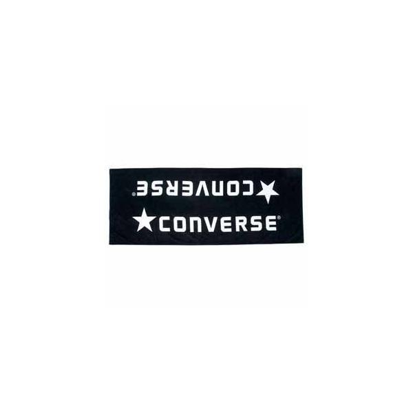 コンバース ジャガードベンチタオル(袋入り)(ブラック/ ホワイト) CONVERSE CB142901-1911 返品種別A