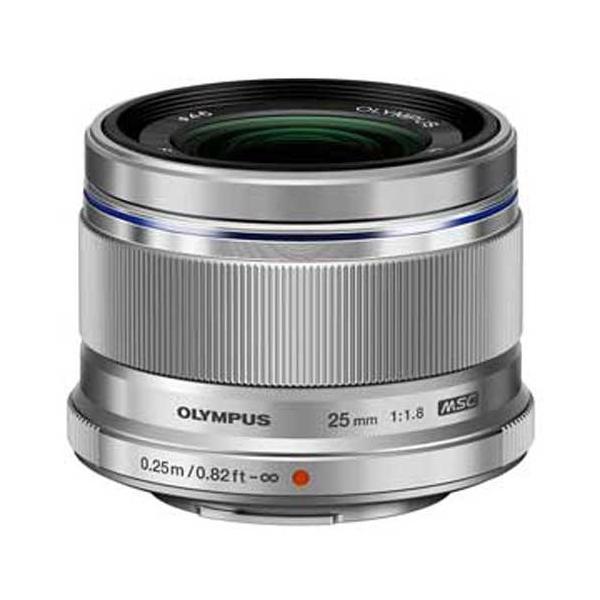 オリンパス M.ZUIKO DIGITAL 25mm F1.8(シルバー) ※マイクロフォーサーズ用レンズ 25MMF1.8(シルバー) 返品種別A