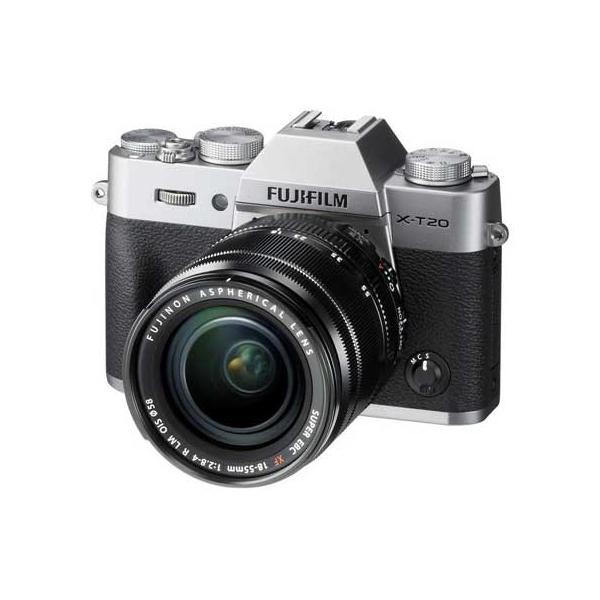 富士フイルム ミラーレスデジタルカメラ「X-T20」レンズキット(シルバー) F X-T20LK-S 返品種別A