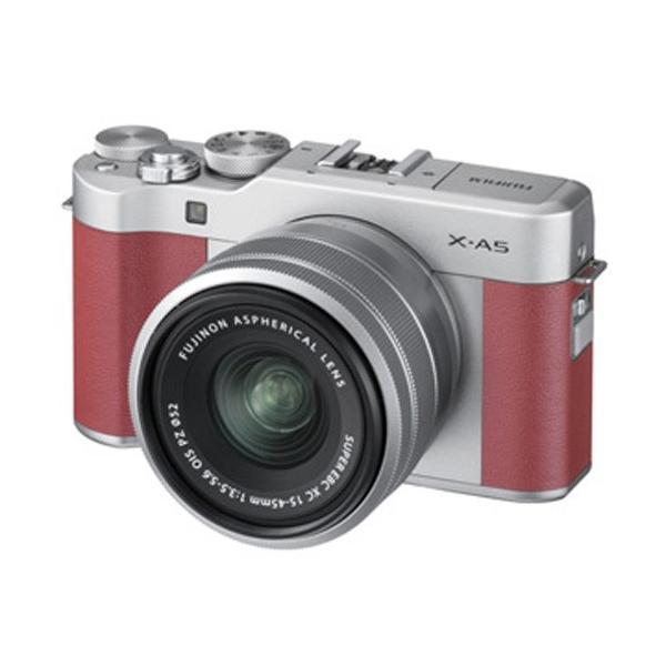 富士フイルム ミラーレス一眼カメラ「FUJIFILM X-A5」レンズキット(ピンク) FX-A5LKP 返品種別A|joshin