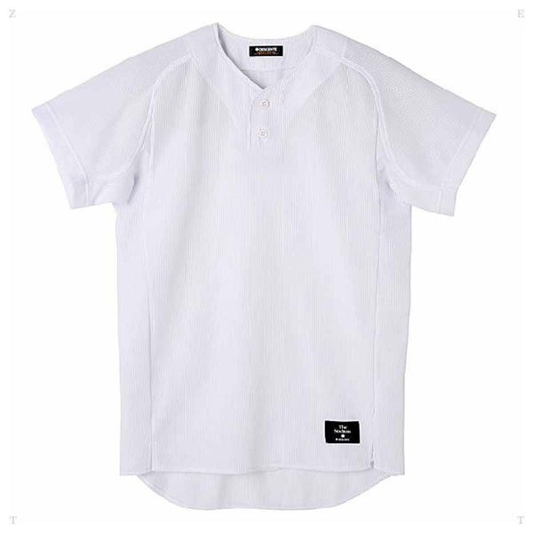 デサント 野球・ソフトボール用ユニフォームシャツ(SWHT・サイズ:XO) DESCENTE ハーフボタンシャツ(レギュラーシルエット) DS-STD52TA-SWHT-XO 返品種別A