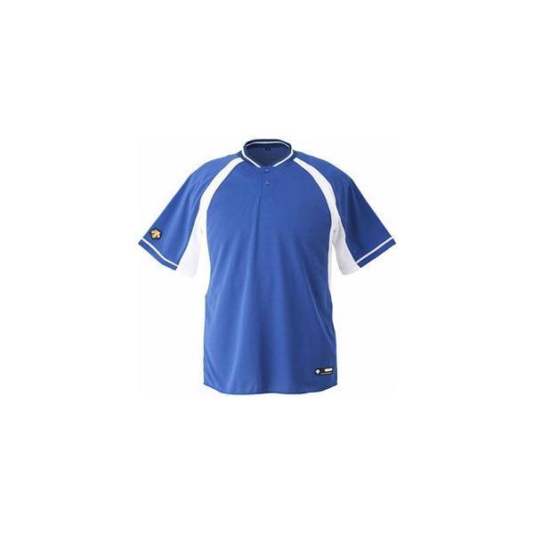 デサント ベースボールシャツ(RYSW・サイズ:M) DESCENTE 2ボタンベースボールシャツ(レギュラーシルエット) DS-DB103B-RYSW-M 返品種別A