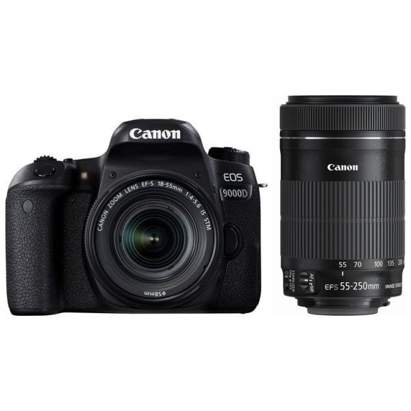 キヤノン デジタル一眼レフカメラ「EOS 9000D」ダブルズームキット EOS9000D-WKIT 返品種別A|joshin