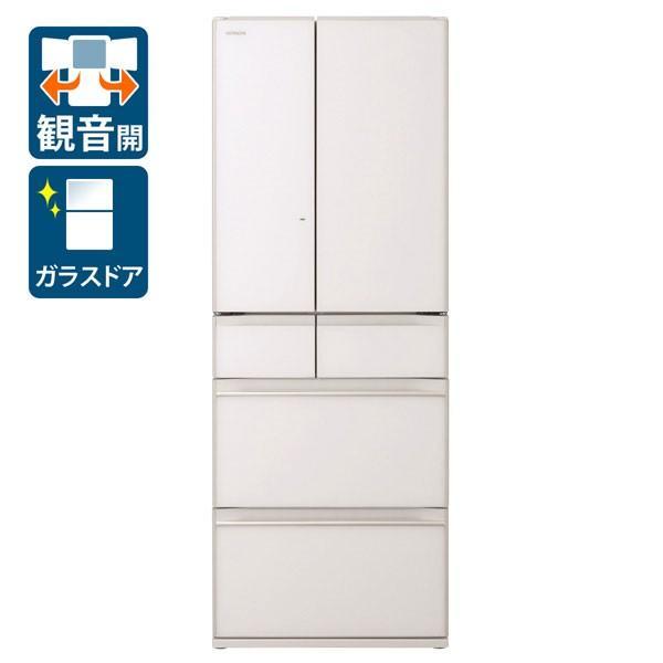 日立 冷蔵庫 R-HW60K(XW) クリスタルホワイト 観音開き 内容量:602リットルの画像