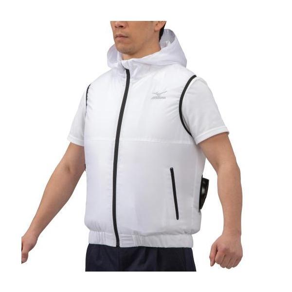 ミズノ エアリージャケット ベスト(XL・ホワイト) mizuno 空調服 熱中症対策 メンズ C2JE010201XL 返品種別A