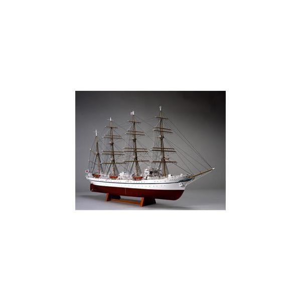 ウッディジョー 1/ 160 木製帆船模型 日本丸(帆なし(停泊))木製組立キット 返品種別B