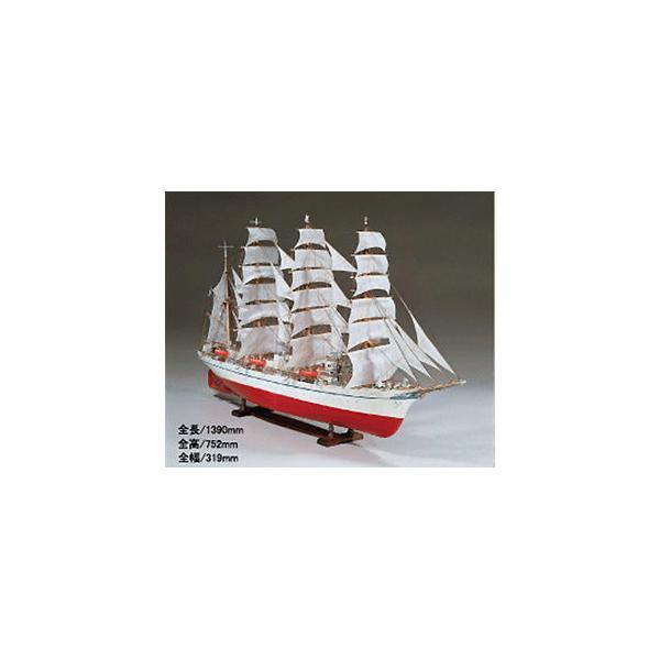 ウッディジョー 1/ 80 木製帆船模型 日本丸木製組立キット 返品種別B