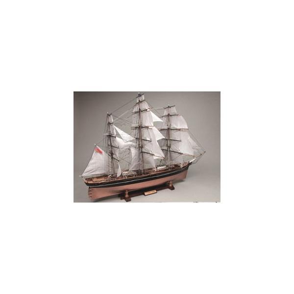 ウッディジョー 1/ 80 木製帆船模型 カティーサーク(帆付き)木製組立キット 返品種別B
