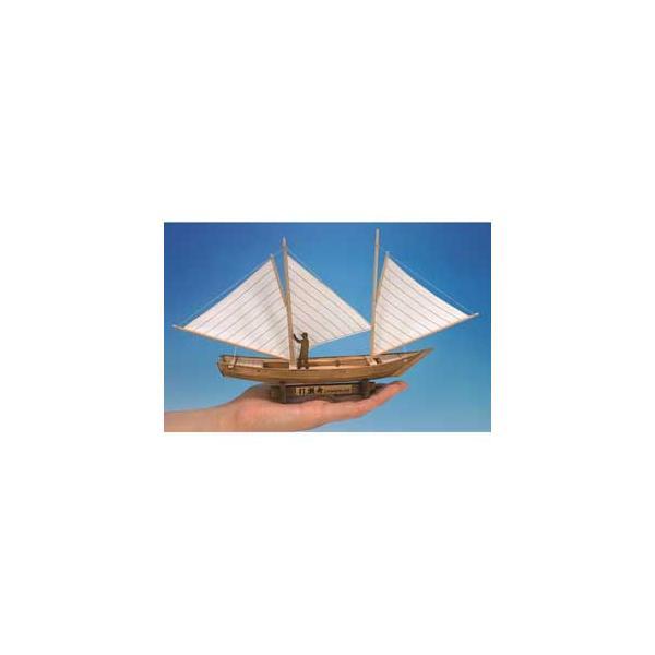 ウッディジョー ミニ和船シリーズ 打瀬船木製組立キット 返品種別B