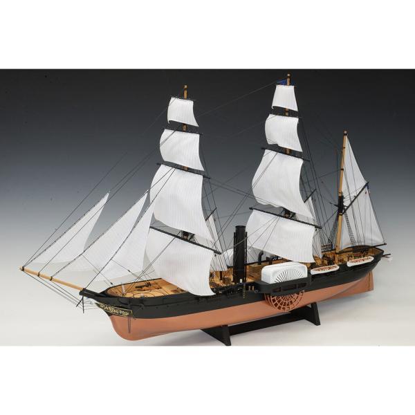 ウッディジョー 1/ 120 黒船 サスケハナ 展帆タイプ木製組立キット 返品種別B