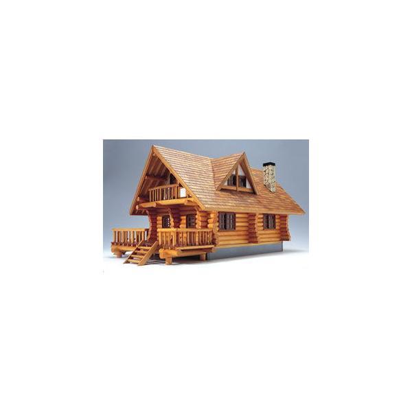 ウッディジョー 1/ 24 木製模型 ログハウス木製組立キット 返品種別B