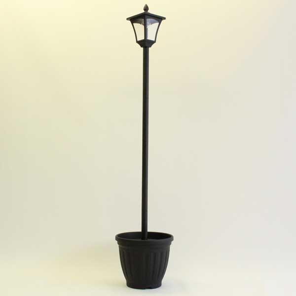 谷村実業 植木鉢付きソーラータイプ街灯 1灯 TAN-763-1 返品種別A