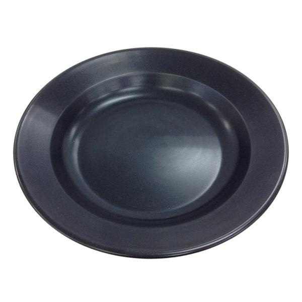 キャプテンスタッグ ブルーブラックコート 丸型カレー皿 UH-4 返品種別A