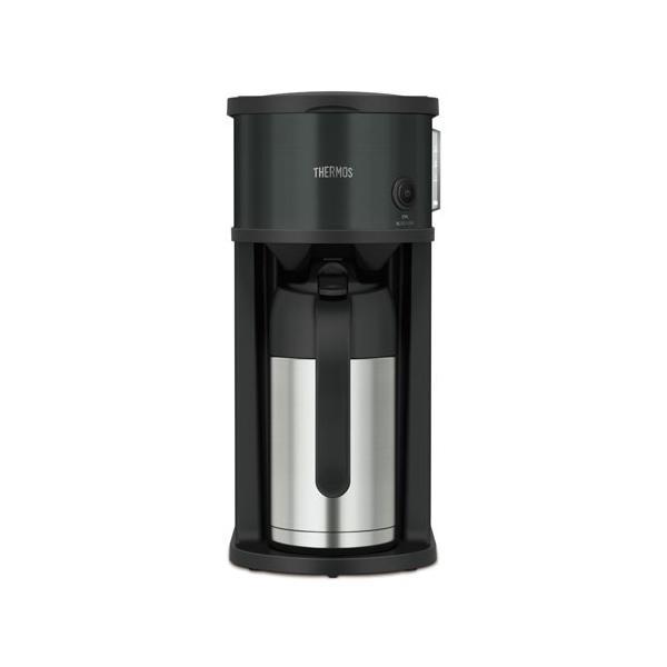 サーモス コーヒーメーカー ブラック THERMOS 真空断熱ポットコーヒーメーカー ECF-701-BK 返品種別A|joshin