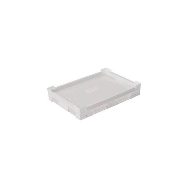 国盛化学 プラダン折畳み FNSコンテナ 40L(SWコーナー)ホワイト 折りたたみコンテナ(ダンボールプラスチックコンテナ) 79100-FNS40L-WH 返品種別B