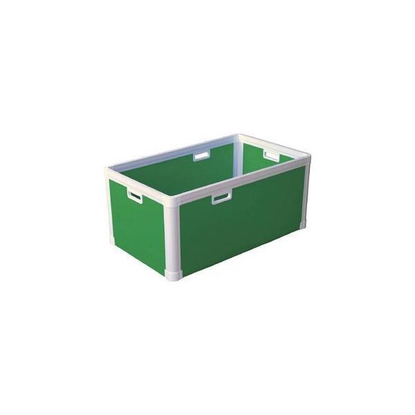 国盛化学 プラダン ブロックコンテナ(TPタイプ)TP484 ライトグリ ボックス型コンテナ(ダンボールプラスチックコンテナ) 77301-TP484-LG 返品種別B