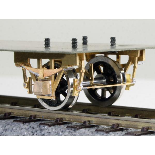 ワールド工芸 (12mmゲージ) 単軸台車 長軸シュー式 貨車票さし付き (車輪別) 組立キット 返品種別B