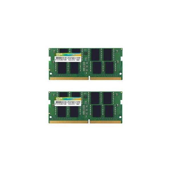 シリコンパワー PC4-17000(DDR4-2133)260pin DDR4 SDRAM S.O.DIMM 16GB(8GB×2枚) SP016GBSFU213B22 返品種別B
