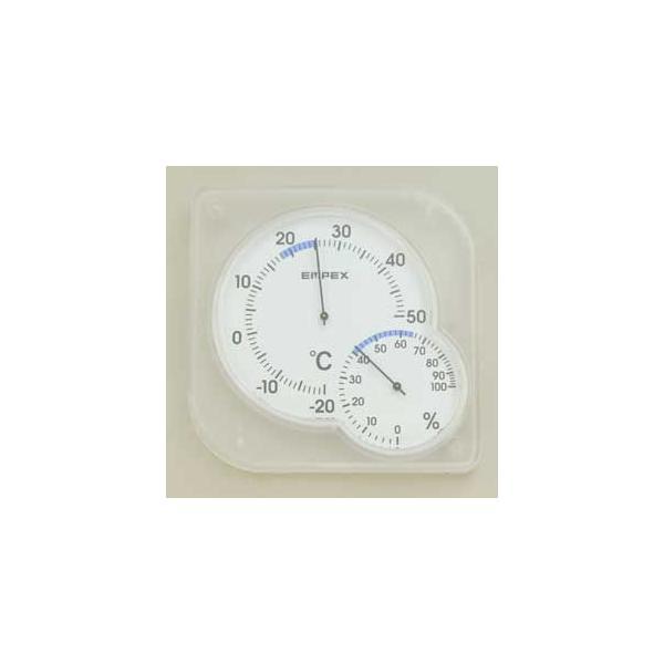 ELPA 温度計・湿度計(クリアホワイト) ELPA OS-01(W) 返品種別A