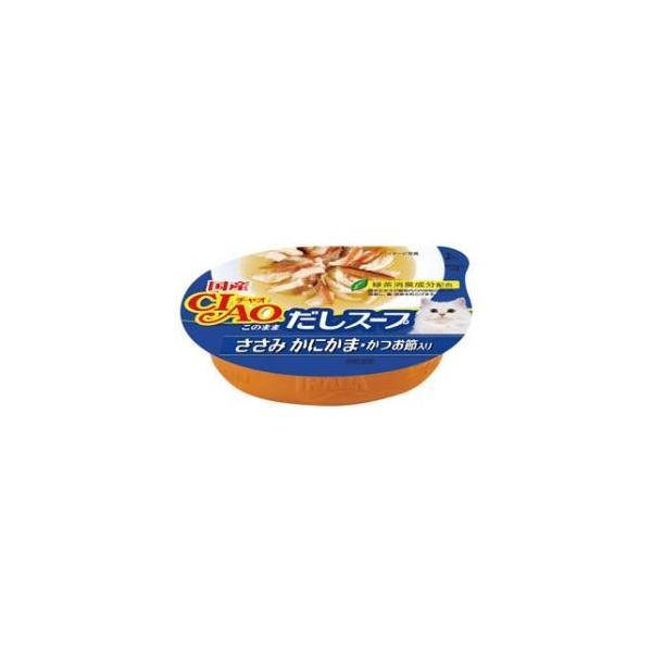 チャオカップ このままだしスープ ささみ かにかま・かつお節入り 60g いなばペットフード CIAO 返品種別B