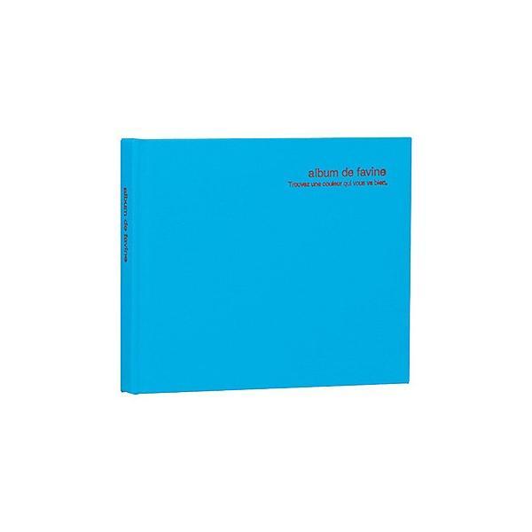 ナカバヤシ ドゥ ファビネ アH-MB-91-B ブック式フリーアルバム ブルーの画像