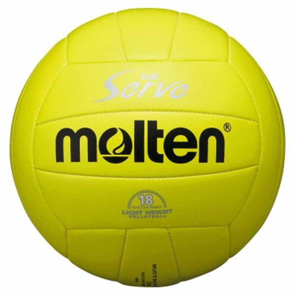 モルテン バレーボール 軽量4号球 (人工皮革) Molten ソフトサーブ (イエロー) EV4L 返品種別A