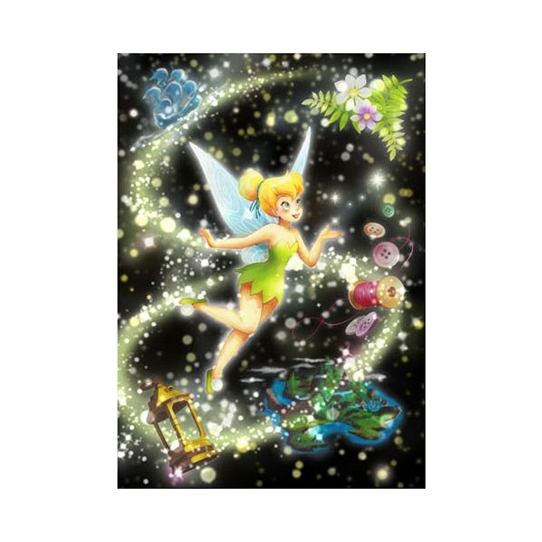 テンヨー ディズニー ステンドアート トゥインクルシャワーコレクション ピクシーダストの輝き(ティンカー・ベル) ぎゅっと266ピースジグソーパズル 返品種別B
