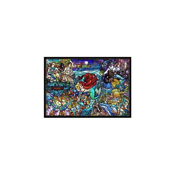 テンヨー ディズニー ステンドアート リトル・マーメイド ストーリー ステンドグラス ぎゅっと500ピースジグソーパズル 返品種別B