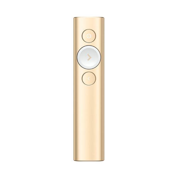 ロジクール 2.4GHzワイヤレス/ Bluetooth Smart接続対応 プレゼンテーション リモート(ゴールド) logicool Spotlight(スポットライト) R1000GD 返品種別A