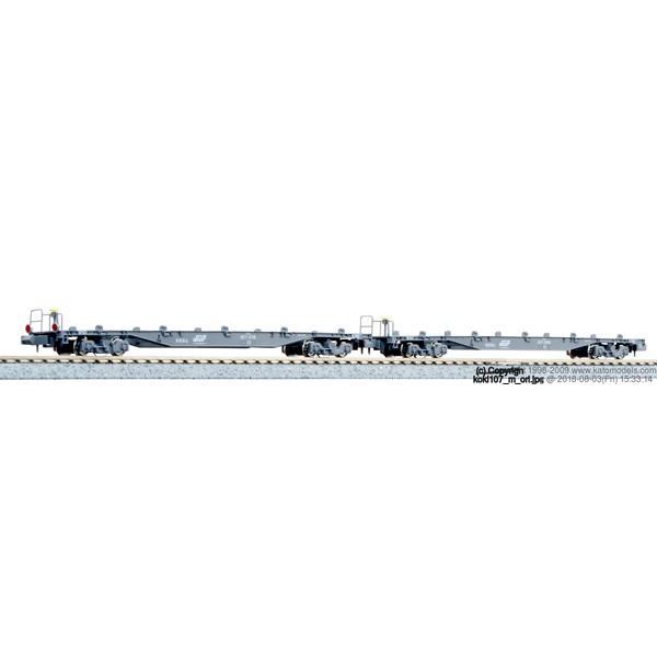 カトー( 生産)(N)10-1433コキ107コンテナ無積載2両セット返品種別B
