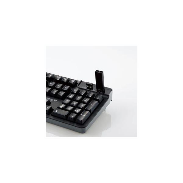エレコム USBハブ付有線プレミアムメンブレンキーボード ELECOM TK-FCM094HBK 返品種別A|joshin|04