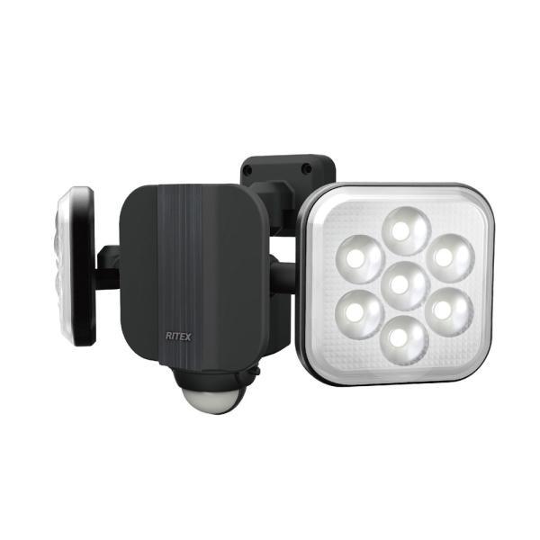 ムサシ LEDセンサーライト(11W×2灯) MUSASHI RITEX LED-AC2022 返品種別A