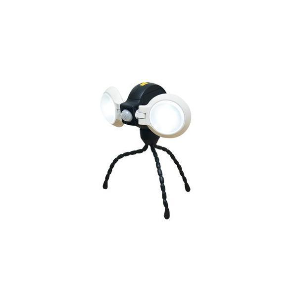 ムサシ 乾電池式LEDセンサーライト(0.75W×2灯) musashi どこでもセンサーライトダブル ASL-092 返品種別A