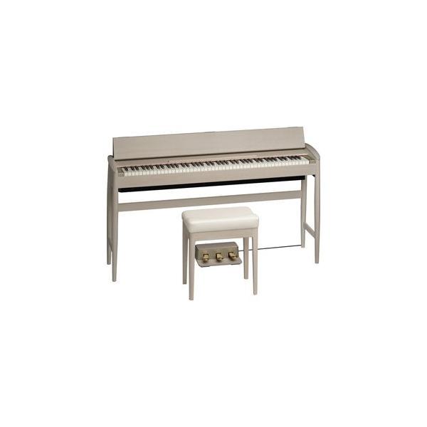 ローランド&カリモク 電子ピアノ(シアーホワイト)(専用固定椅子付き) Roland Piano Digital KIYOLA KF-10-KS 返品種別A
