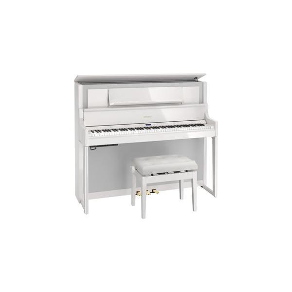 ローランド 電子ピアノ(白塗鏡面塗装仕上げ)(高低自在椅子&楽譜集付き) Roland LX700 Series LX708-PWS(イスツキ) 返品種別A