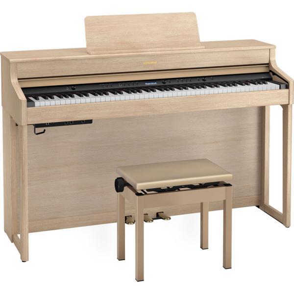 ローランド 電子ピアノ(ライトオーク)(高低自在椅子&ヘッドホン&楽譜集付き) Roland HP700 SERIES HP702-LAS(イススタンドツキ) 返品種別A